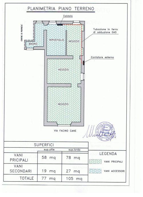 CASALE MONFERRATO (PIAZZA POSTA) Vendesi negozio ristrutturato di mq 105